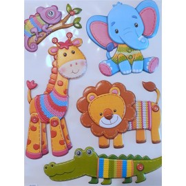 STICKER 3D ANIMALES Y UNICORNIOS